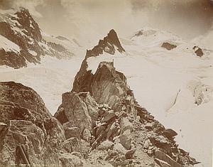 Alpes Mont Blanc Grands Mulets Refuge Old Photo 1890