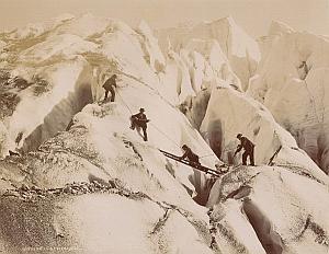 Alpes Mont Blanc Animated Escalade Old Photo 1890