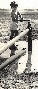 Israel Water Supply Amiram Young Boy Maziere Photo 1965