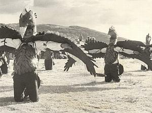 Peru Titicaca Lake Inca Ceremony Old Decool Photo 1970