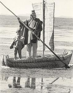 Peru Titicaca Lake Inca Indian Life Decool Photo 1970