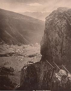 Switzerland Mountain Daube Gemmi Passage Old Photo 1890