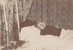 Post Mortem Man Limoux France Cabinet Card Photo 1900