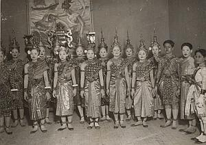 Siamese Cambodia Dancers Paris Old Keystone Photo 1930