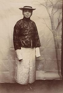 China Tien Tsin Chinese Middle Class Fashion Photo 1900