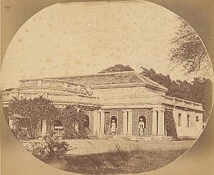 India Upper Class Residence Panorama old Photo 1860