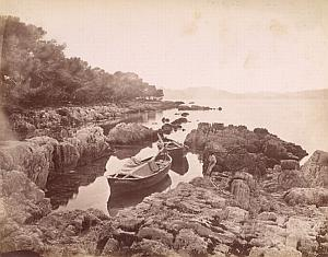 French Riviera Cannes Ile Saint Honorat Boat Old Jean Gilletta Photo 1880