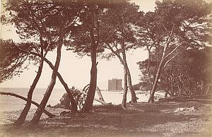 French Riviera Cannes Ile Saint Honorat Monastery Old Jean Gilletta Photo 1880