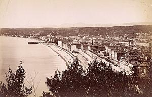 France Cote d'Azur Nice Panorama du Chateau Ancienne Photo Jean Gilletta 1880'