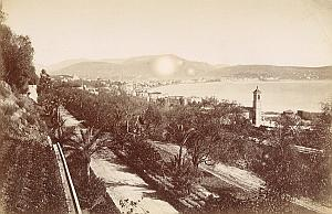 France Cote d'Azur Baie de Nice Panorama Ancienne Photo Jean Gilletta 1880'