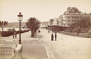 French Riviera Nice Promenade des Anglais old Jean Gilletta Photo 1880'