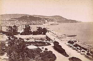 French Riviera Nice Panorama des Poncettes old Jean Gilletta Photo 1880'