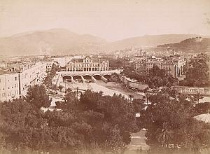 French Riviera Nice Panorama Vittel Advert Old Jean Gilletta Photo 1880'