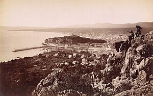 French Riviera Baie de Nice Panorama Old Jean Gilletta Photo 1880'