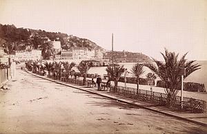French Riviera Nice Quai du Midi Old Jean Gilletta Photo 1880'