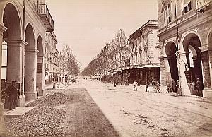 French Riviera Nice Avenue de la Gare Old Jean Gilletta Photo 1880'