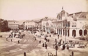 French Riviera Nice Place Massena Animated old Jean Gilletta Photo 1880'