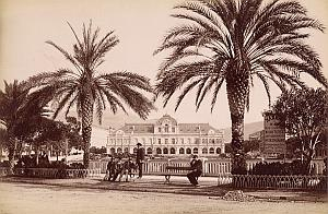 French Riviera Nice Casino Gardens Hammam sign Old Jean Gilletta Photo 1880'