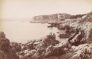 French Riviera Nice Harbour Entrance Panorama old Jean Gilletta Photo 1880'