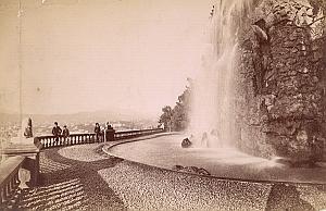 French Riviera Monte Carlo Garden Fountain old Jean Gilletta Photo 1880