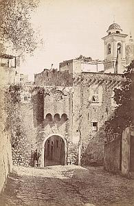 Italy Sanremo Saint Joseph Gate Old Jean Gilletta Photo 1880'