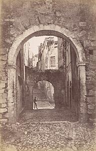 Italy Sanremo Old Town Cobbled Street Archway old Jean Gilletta Photo 1880'