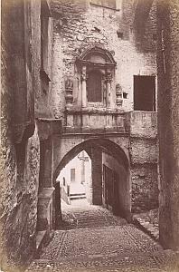 Italy Sanremo Old Town Steep Cobbled Street Archway Jean Gilletta Photo 1880'