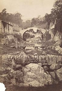 Italy Sanremo Old Town Dry River bed stream old Jean Gilletta Photo 1880'