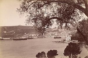 French Riviera Villefranche Bay Harbour Seaside old Jean Gilletta Photo 1880