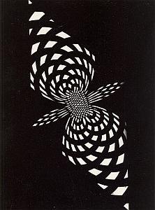 Psychedelic Unusual Artistic Study Photogram 1970'