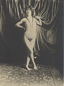 Woman Nude Risque Study Old Large Photo 1930