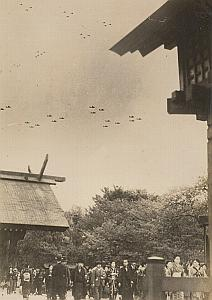 WWII World War Japan Plane Parade Propaganda Photo 1942