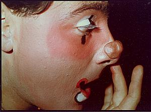 Clown Head Make Up Study Color Deplechin Photo 1970