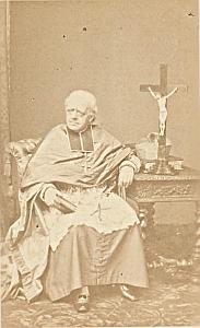 Mgr Parisis Arras Bishop Catholic CDV Photo 1860
