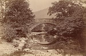 Brig O Turk Bridge Scotland UK Old Valentine Photo 1875