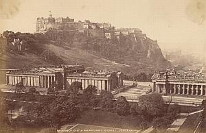 Edinburgh Castle Scotland UK Old Valentine Photo 1875