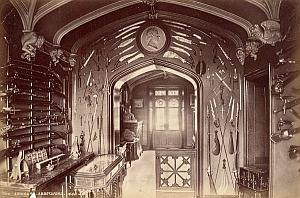Abbotsford Armoury Scotland Old Valentine Photo 1875