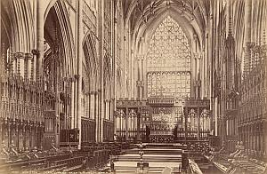 York Minster Church Chancel UK Old Valentine Photo 1875