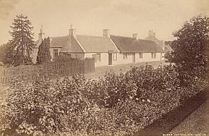 Burns Cottage Ayrshire Scotland Valentine Photo 1875
