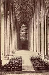 Canterbury Cathedral Interior Old Valentine Photo 1875