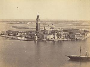 San Giorgio Maggiore Panorama Venezia Old Photo 1860