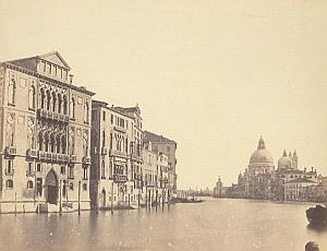Palazzo Grande Canale Panorama Venezia Old Photo 1860