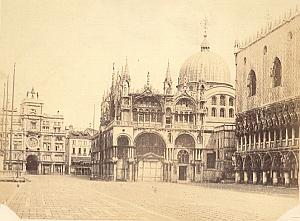 Piazza San Marco Basilica Venezia Old Photo 1860