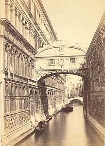 Ponte dei Sospiri Panorama Venezia Old Photo 1860