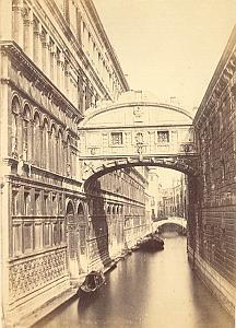 Ponte dei Sospiri Panorama Venezia Old Photo 1860