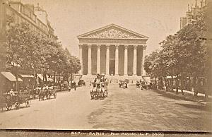 Paris Rue Royale Horses Cab France Old Photo 1890