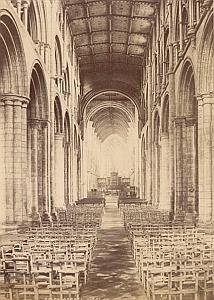 Selby Abbey Interior United Kingdom Old Photo 1890