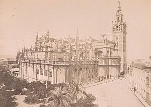 Sevilla Cathedral General View Spain Old Photo 1890