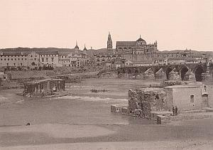 Cordoba Bridge & Cathedral Spain Old Photo 1890