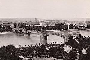 Coblenz Panoramic View Bridge Germany Old Photo 1890